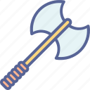 axe, fight, knight, war icon