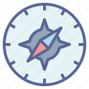 compass, direction, military, navigation icon