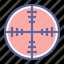 aim, crosshair, shoot, target icon