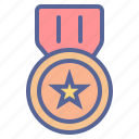 award, badge, medal, veteran icon