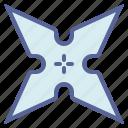 fight, ninja, star, throw icon