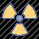 caution, hazard, nuclear, radioactive