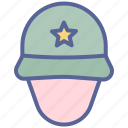 army, helmet, military, soldier icon