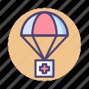 air, air drop, air drop supply, drop icon