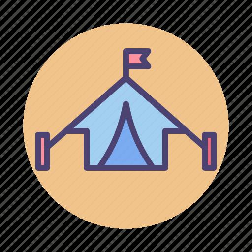 barracks, camp, canopy, tent, tentsite icon