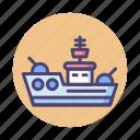battleship, ship icon