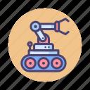 bomb, bomb disposal robot, disposal, robot, robotics icon