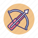 arrow, bow, crossbow, weapon icon