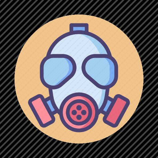 gas, gas mask, mask icon