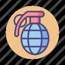 bomb, c4, grenade, hand grenade icon