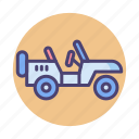 jeep, military, military jeep icon