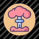 bomb, hiroshima, mushroom cloud, nuclear, nuclear bomb icon