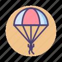 parachute, paratroop, paratrooper icon