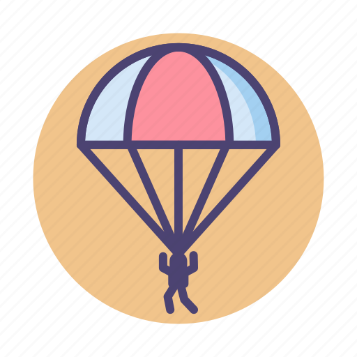 Parachute, paratroop, paratrooper icon - Download on Iconfinder
