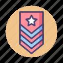 award, badge, military, rank, ranking icon