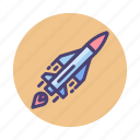 aircraft, rocket, space icon