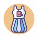 blouse, dress, gown, spouse icon