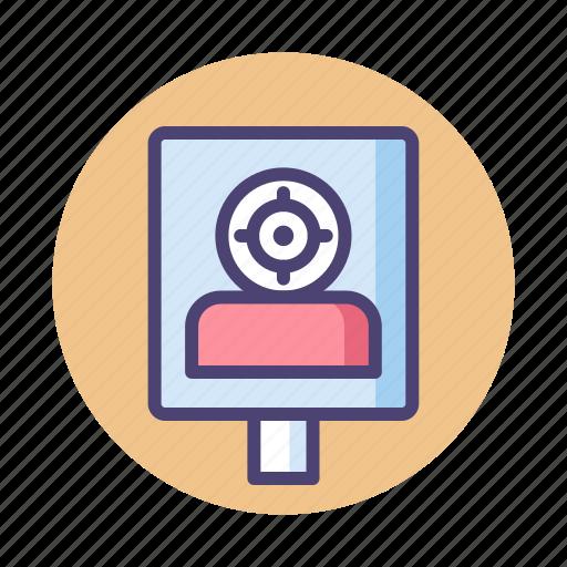 practice, shooting, target, target practice icon