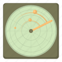 aiming, cartoon, military, radar, target, war, weapon icon