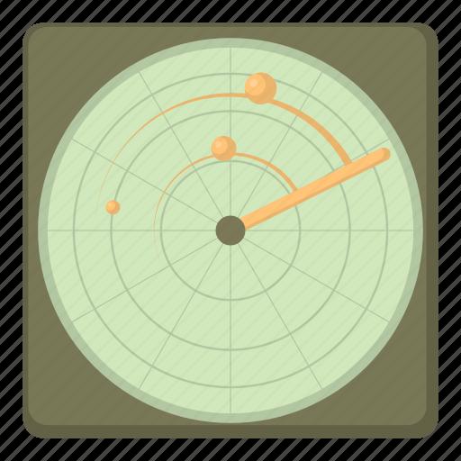 aiming, cartoon, military, radar, target, war, weapon icon