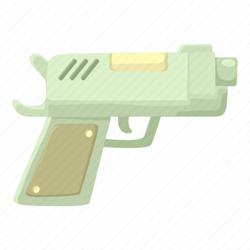 cartoon, danger, fight, gun, handgun, pistol, weapon icon