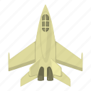cartoon, fighter, fly, jet, military, military jet, plane icon