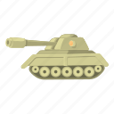 cartoon, defense, heavy, military, power, tank, war icon