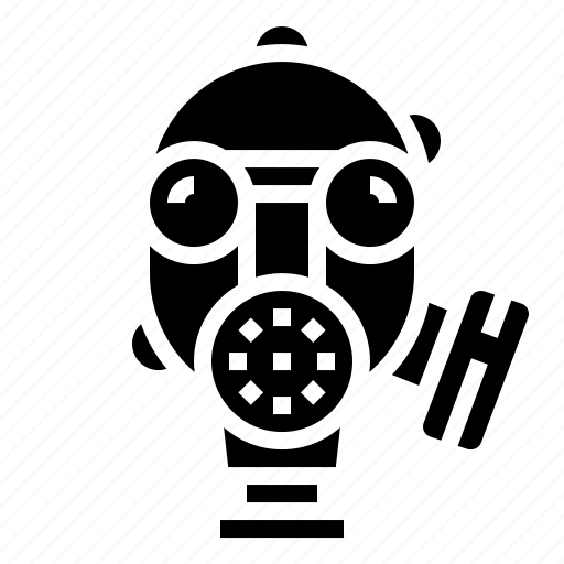 gas, mask, military, protection, war icon
