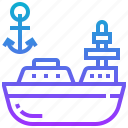 boat, marine, military, ship icon