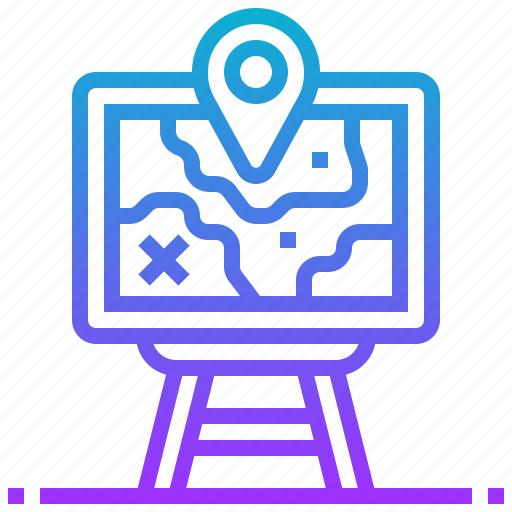 location, map, navigation, strategy icon