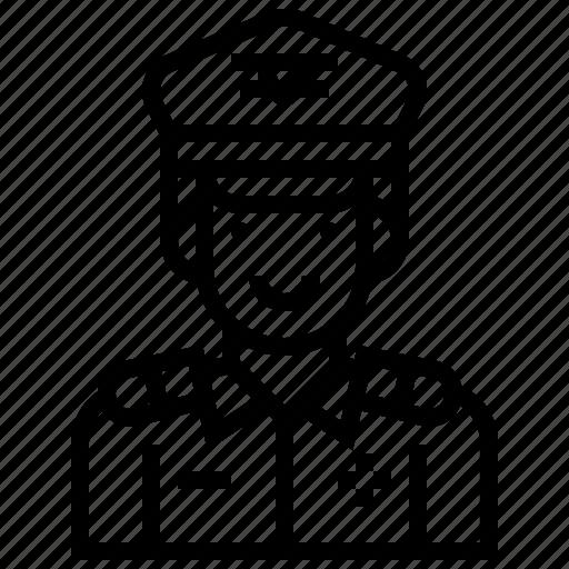 air, avatar, force, man, military, soldier, war icon