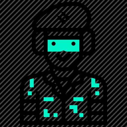 army, avatar, man, military, soldier, war icon