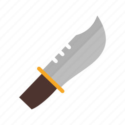 armed, army, bowie, knife, metal, sharp, weapon icon
