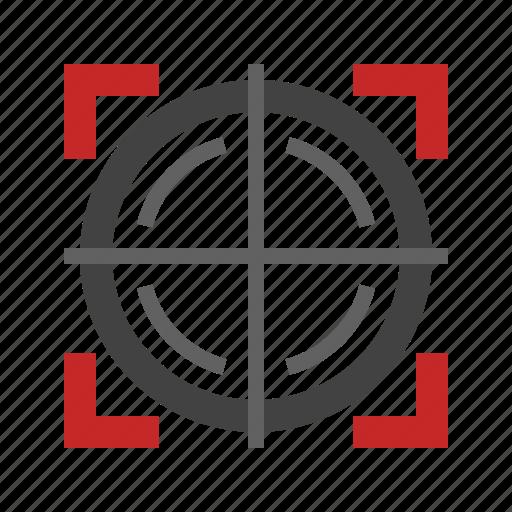 circle, dart, dot, gun, sight, sniper, target icon