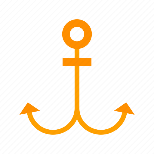 anchor, nautical, old, rope, sea, ship, sign icon