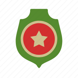 army, badge, badges, medal, metal, military, star icon