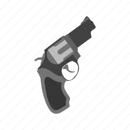 barrel, danger, gun, handgun, pistol, revolver, wild icon