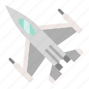 army, figther, force, military, plane, vehicle icon