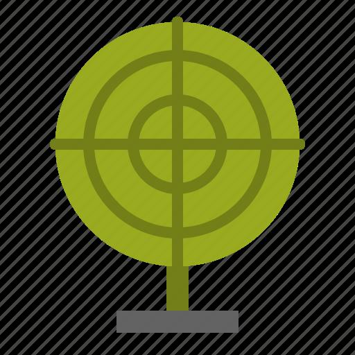 aim, goal, military, target icon