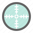 aim, military, point, sight, target icon