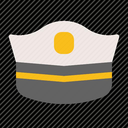 cap, hat, military, police cap, police hat icon