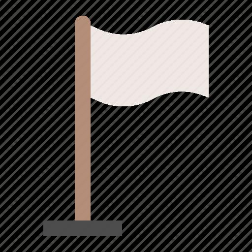 army, military, surrender, white flag icon
