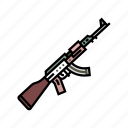 army, assault rifle, automatic, gun, military, war, weapon icon