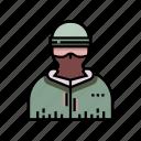 balaclava, crime, criminal, guerrilla, mask, military, terrorist icon
