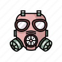 army, chemical, equipment, gas mask, military, protection, war icon
