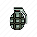ammunition, army, equipment, grenade, military, war, weapon icon
