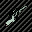 firearm, gun, military, scope, sight, sniper rifle, weapon icon