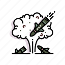 military, missile, nuclear, rocket, war, warhead, weapon icon