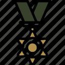 achievement, award, badge, star, winner, ribbon, medal