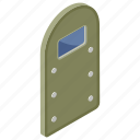armament, buckler, military shield, protection, protective shield, safeguard icon